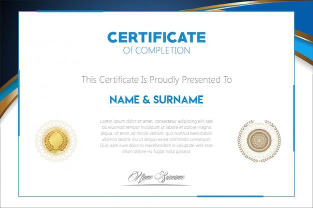 Сертификат современного дизайна шаблона