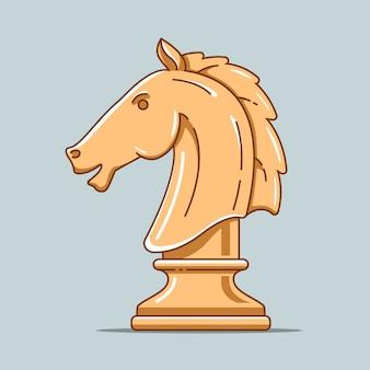 Деревянная шахматная фигура лошади