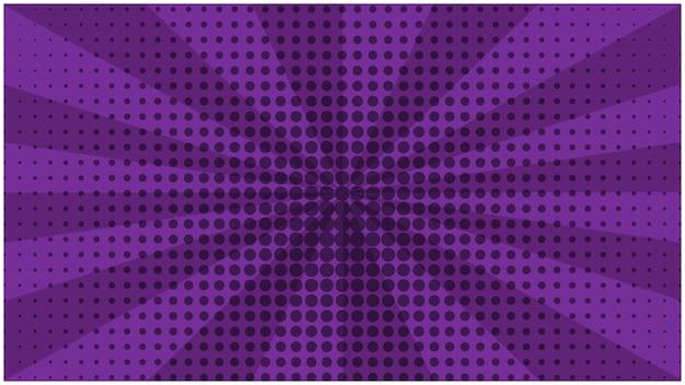 抽象的な紫ストライプレトロコミック背景