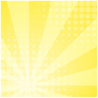 黄色のストライプレトロコミック背景