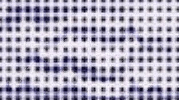 抽象的な波状ドットハーフトーン