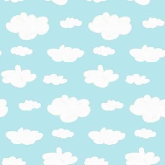 かわいいシームレスな雲パターン