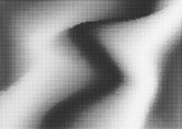 抽象的な黒い波状の点線の背景