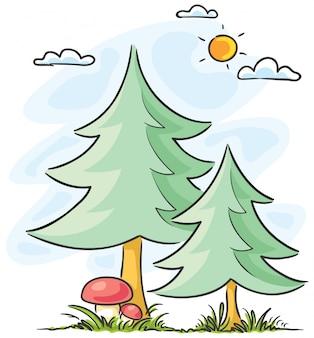 Елки и грибы