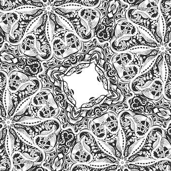 正方形の装飾的な背景、タイルのエレガントなパターン