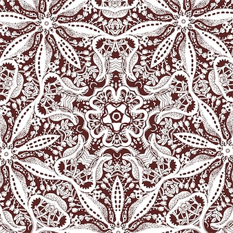 花の要素、モノクロの描画と正方形のタイル
