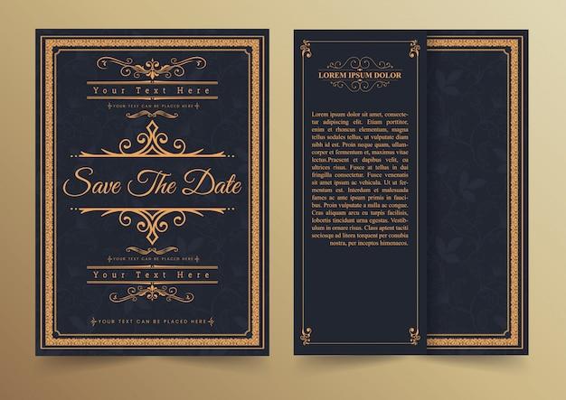 招待カードデザイン-ビンテージスタイル