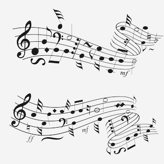 楽譜付きの音波