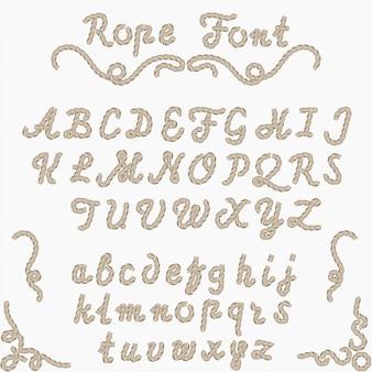 ロープフォント、航海手書き文字