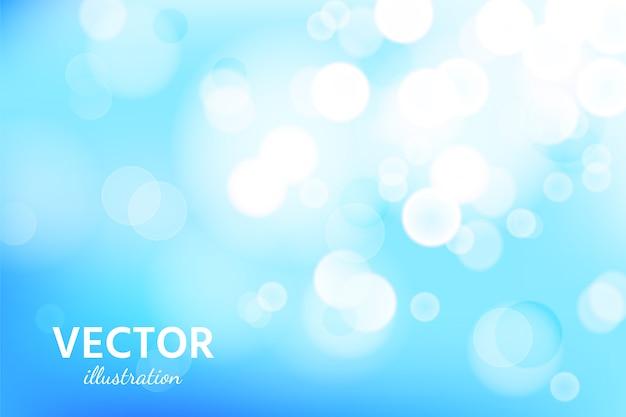 ピンぼけ光効果と抽象的な青い空を背景。