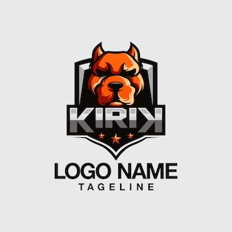 ブルドッグのロゴデザイン