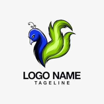 孔雀のロゴデザイン