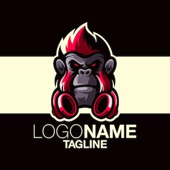 Обезьяна дизайн логотипа