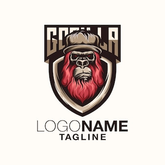 Горилла дизайн логотипа
