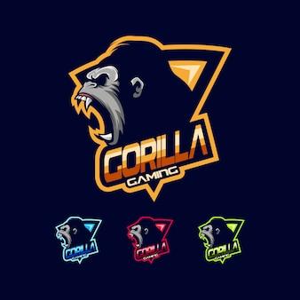 Горилла логотип вектор