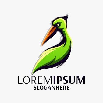 ペリカンのロゴデザイン