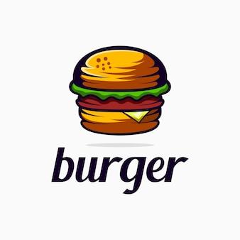 バーガーのロゴのベクトル