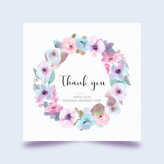 Прекрасная акварельная цветочная открытка