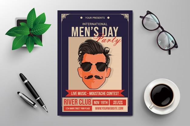 国際男性の日のチラシテンプレート