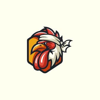 鶏のスポーツのロゴ