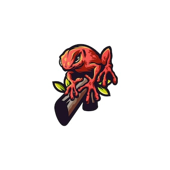 Логотип лягушки животных
