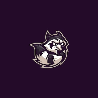 Слоган с логотипом енота здесь
