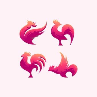 ピンクのロースターロゴ