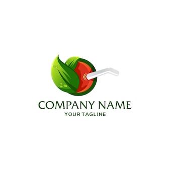 Шаблон логотипа фруктовый напиток