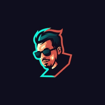男性アーティストのロゴデザイン