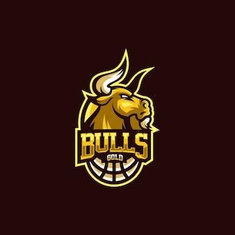 Бык золотой логотип