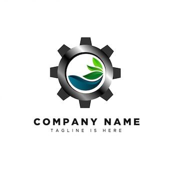水の新鮮な産業のロゴ