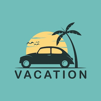 Отпуск простой логотип чистый дизайн