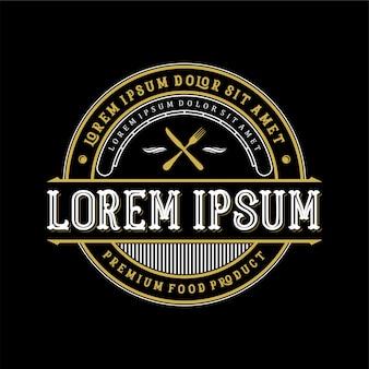 Дизайн логотипа еды и питья для продукта и ресторана