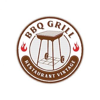 レストランのバーベキューのロゴ