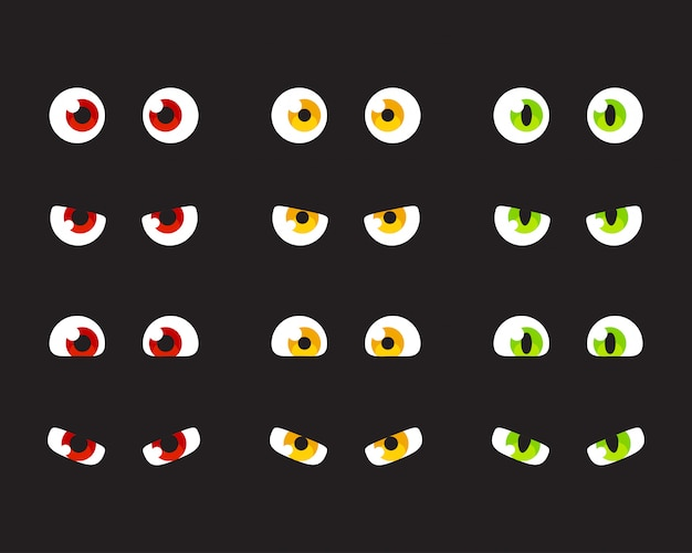 漫画の目のセット