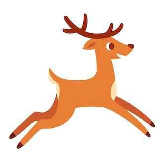 実行している漫画の鹿