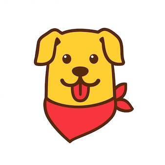 Милый мультфильм собака голова
