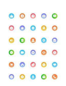 カラーグラデーションインターネットモバイルアイコン