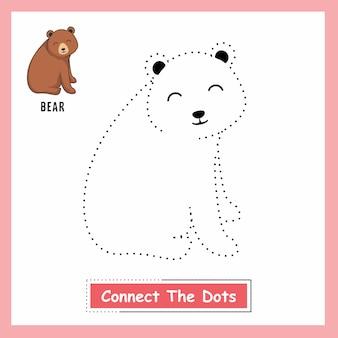 Медведь соединить точки