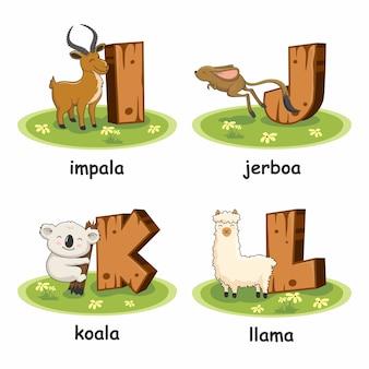 Деревянные алфавит животные