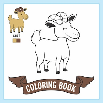 Коза животные раскраски книжный лист
