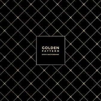 高級黄金の幾何学模様、抽象的なパターンの背景