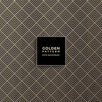 Роскошный золотой геометрический рисунок, абстрактный узор фона