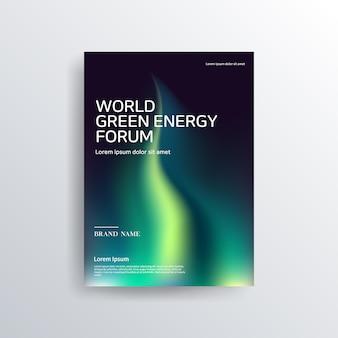 Красочная зеленая и темная брошюра