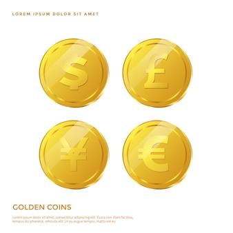 黄金のコインオブジェクト