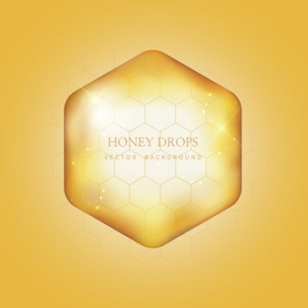 Мед капельного и медового фона