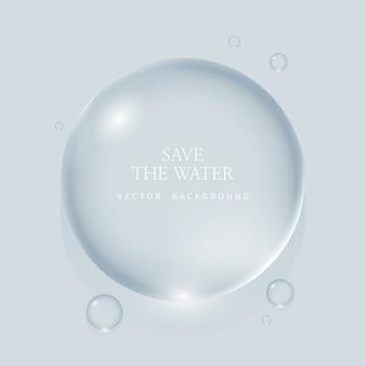 透明な水滴、水滴