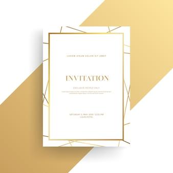 Роскошный пригласительный билет с золотой текстурой