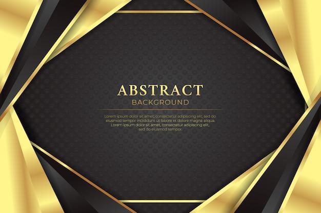Абстрактный черный золотой роскошный темный фон с золотой линией