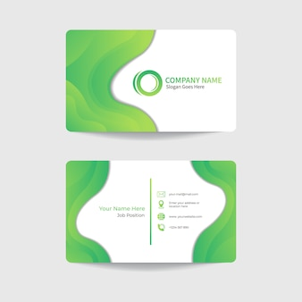 Корпоративный современный дизайн шаблона визитной карточки